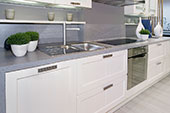Kitchen with stone benchtop
